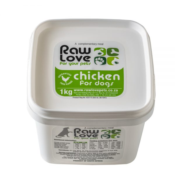 1kg Chicken Tub Meal For Dogs