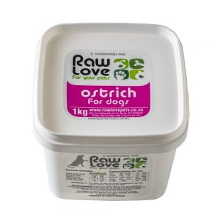 1kg Ostrich Tub Meal For Dogs