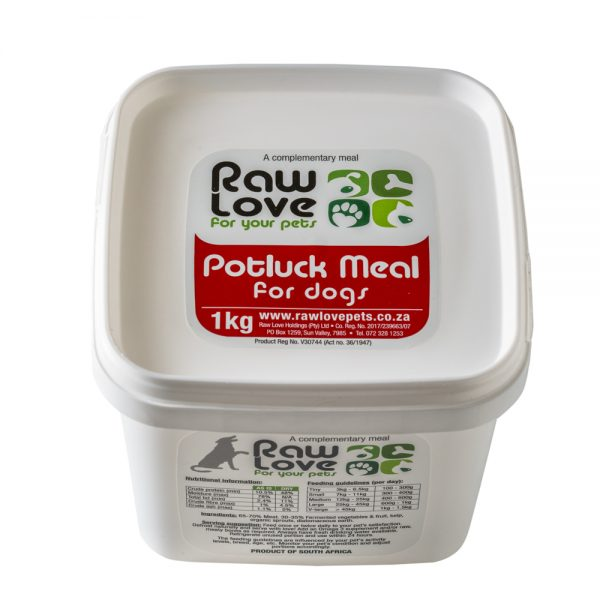 1kg Pot luck meal for dogs