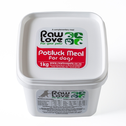 Potluck meal for dogs - 1 kg