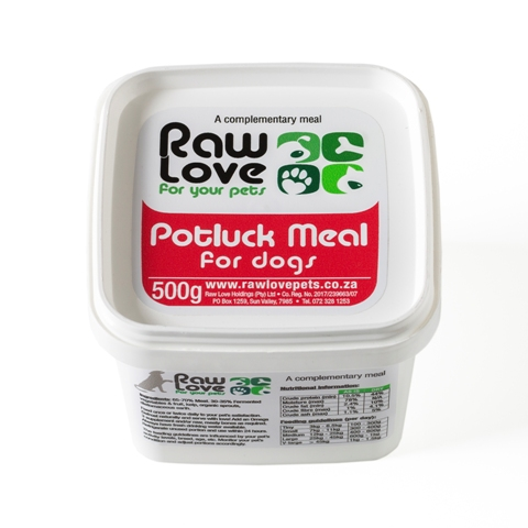 Pot luck meal for dogs - 500grams